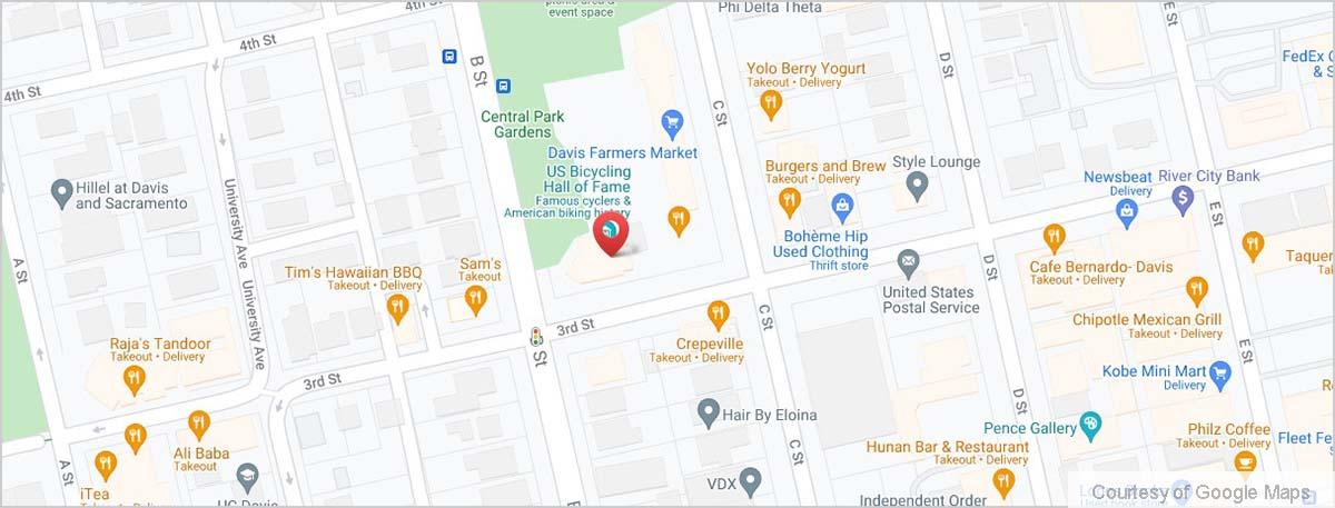 Map of Downtown Davis